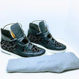 Jimmy Choo Barlowe Studded High-Top Sneaker